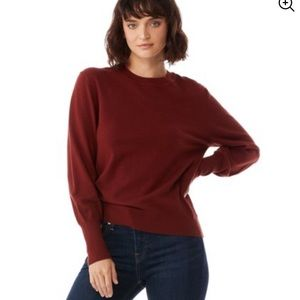 Crew neck Burgundy Women's Sweater
